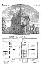 floor plan with perspective house old classic floor plans 1890s 2 story home artistic city houses