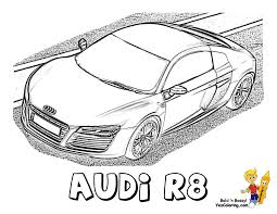 ice cool car coloring page rollin u0027 with audi r8 tell other kids