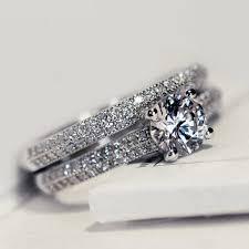 promise ring engagement ring and wedding ring set aliexpress buy promise rings set for women wedding rings