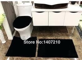 Modern Bathroom Rug Black Bath Rug Set Jeux De Decoration