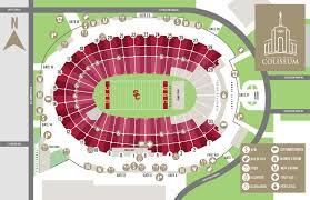 stadium floor plan coliseum seating chart la coliseum
