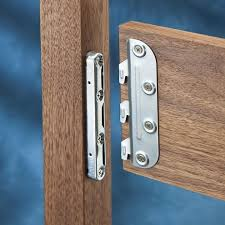 four matched sets of 5 surface mounted bed rail brackets