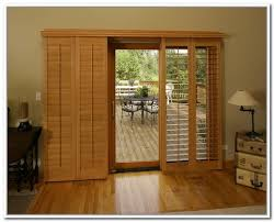 Wood Sliding Glass Patio Doors Patio Door Wooden Blinds Interior Home Decor Blinds For Sliding