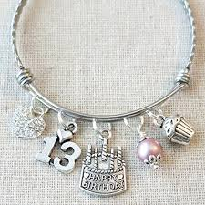 girl with bracelet images Happy 13th birthday heart charm bracelet 13th jpg