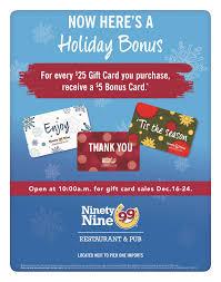 restaurant gift card clifton park center 99 restaurant gift card deal