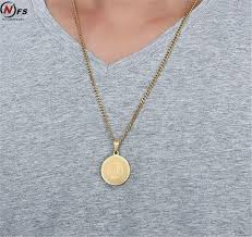 round gold necklace pendant images Nfs 29mm stainless steel mantra round pendant gold muslim allah jpg