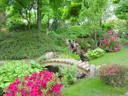 small flower garden plans homeca garden great arch wooden bridge over small rocky river ideas small flower garden plans image 5