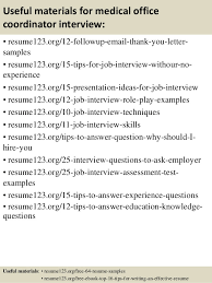 top 8 medical office coordinator resume samples
