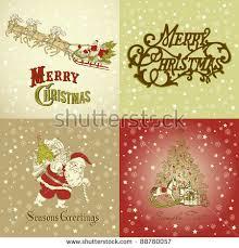 typography christmas greeting card merry christmas stock vector