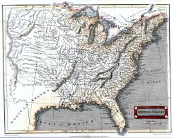 United States Map With Mileage Scale by 1820 U0027s Pennsylvania Maps
