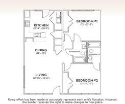 Floor Plan Of 2 Bedroom Flat 2 Bedroom The Woodlands Of Knoxville