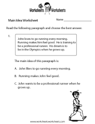 main idea multiple choice worksheets free worksheets library