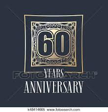 60 years anniversary clipart of 60 years anniversary vector icon logo k48414665