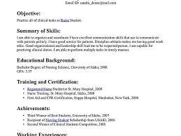 Sample Nursing Student Resume Clinical Experience by Nursing Student Resume Nursing Student Resume Cover Letter