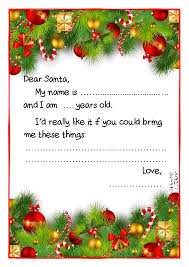 letter to santa template printable black and white exle santa claus short letter black white template xmas
