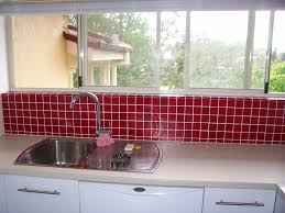 simple kitchen splashback red tile backsplash gallery â tiling