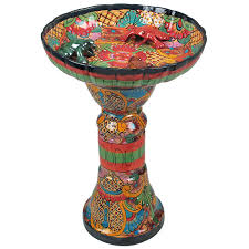 Flower Pot Bird Bath - talavera flower pots planters and mexican garden pottery