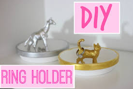 acrylic rabbit ring holder images How to make a ring holder diy jpg