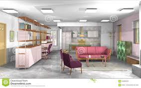 Rustikale Wohnzimmer M El Industrielles Rustikales Modernes Wohnzimmer Mit Büro Und Offene