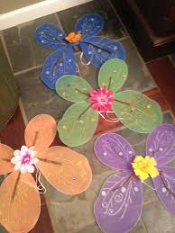 dollar tree wings embellished with sticks u0026 flowers for fairy