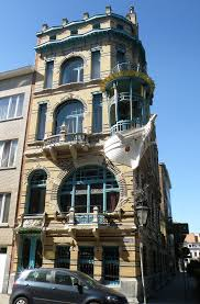gorgeous art nouveau house with a boat as balcony it is located
