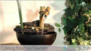 calming bamboo tabletop fountain by serenity health tt5136