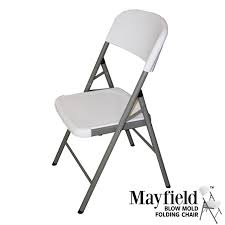 mayfield blow molded plastic folding chair folding chairs