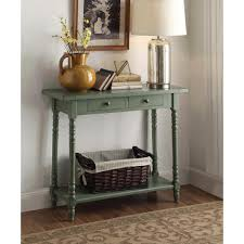 Green Console Table 4d Concepts Simplicity Cottage Green Storage Console Table 570379