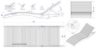 Free Plans For Garden Furniture by Sun Lounger Plan