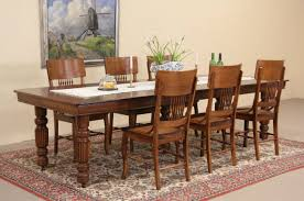 sold square oak 1900 antique dining table 6 leaves extend 9 u0027 6