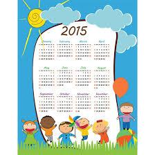 a calendar template for children blank calendar design 2017