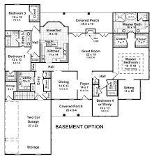 Impressive 4 Bedroom House Plans Impressive Inspiration Basement Home Plans House With Basements