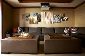 Home Theatre Wall Decor Chairs Beautiful Home Theater Interior Designs With Sofa Curtain