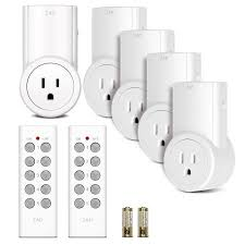 wifi programmable light switch etekcity indoor wireless remote control power outlet light switches