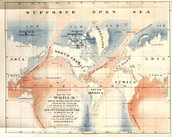 North Pole Map Oceans And Thermometric Gateways To The North Pole 1872 Map By