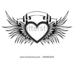 vector background with wings