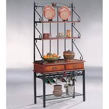 kitchen accent furniture accent racks 3 shelf kitchen cabinet with wine rack
