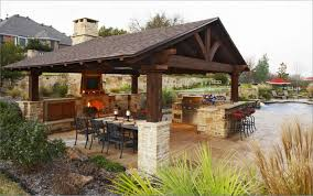 backyard kitchen ideas best awesome outdoor kitchen with pavers 8184
