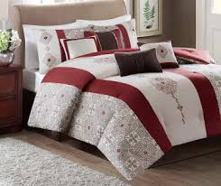 Red And White Comforter Sets Images Biglots Com Donavan Red Brown And White 8 P
