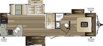Front Living Room 5th Wheel Floor Plans Keystone Cougar Rvs For Sale Camping World Rv Sales