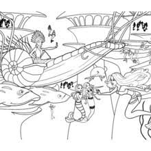 mermaids u0027 party sea free barbie coloring pages