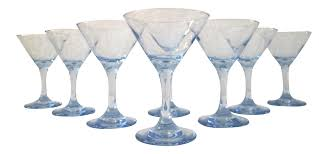 vintage martini glasses vintage powder blue martini glasses set of 8 chairish