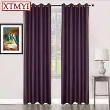 Purple Room Darkening Curtains Solid Window Blackout Curtains For Bedroom Pink Purple Gray