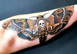 insect tattoo butterfly with scull tattoomagz