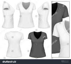 womens vneck tshirt design template front stock vector 226277497
