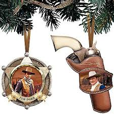 buy wayne the duke western badge 6 shooter ornament
