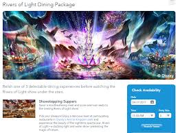 rivers of light dining package rivers of light to open may 1st 2017 with new dining packages news