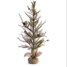 buy 2 pine artificial trees with pine cones and burlap