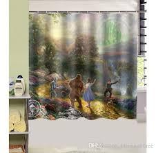 kinkade wizard of oz design shower curtain size 180 x 180