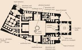 floor plan of mosque cairo complex of hasan begun 1356 islamic architecture ii